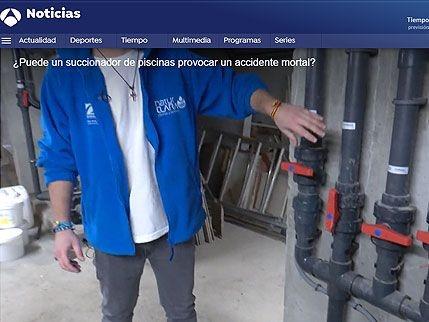 Entrevista Antena 3 Noticias - ¿Puede un succionador de piscinas provocar un accidente?