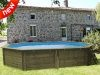 Piscina desmontable madera ovalada Cannelle Gre