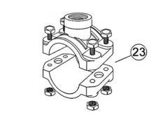 Abrazadera de toma de carga D.50 mm - 1/2