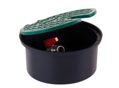 Arqueta circular pequeña con válvula para manguera Cepex
