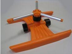 Aspersor de riego Gardena rotativo 3 brazos de aluminio con trineo
