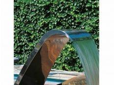 Cascada para piscina Cortina Luxe Astralpool en acero inoxidable