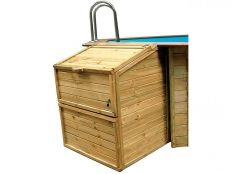 Caseta local técnico de madera Gre para depuradora de piscina