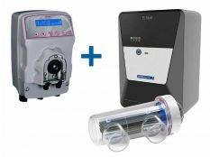 Clorador salino Astralpool E-Next con bomba de pH Mypool Ctx Certikin