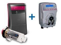 Clorador salino Go Salt Idegis Ctx + Bomba pH MyPool