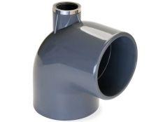 Codo 90º PVC encolar con salida superior rosca 3/4 para piscinas Hidroten