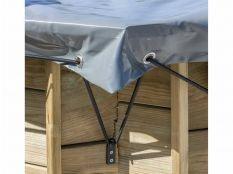 Cubierta de invierno cuadrada Gre para piscinas de madera Sunbay