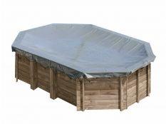 Cubierta de invierno ovalada Gre para piscinas de madera Sunbay
