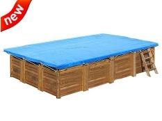 Cubierta de invierno rectangular Gre para piscinas desmontables