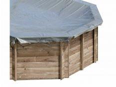 Cubierta de invierno redonda Gre para piscinas de madera Sunbay