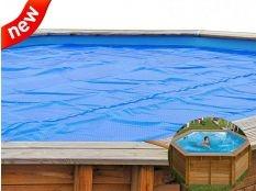 Cubierta de verano circular Gre para piscinas demontables 400 micrones