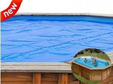 Cubierta de verano ovalada Gre para piscinas demontables 400 micrones