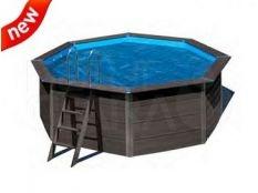 Cubierta isotérmica piscina circular composite Gre