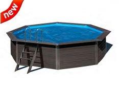 Cubierta isotérmica piscina ovalada composite Gre
