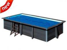 Cubierta isotérmica piscina rectangular composite Gre