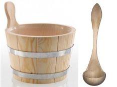 Cubo de madera para sauna