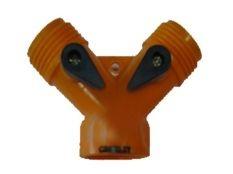 Distribuidor de doble válvula para riego de jardin Cromley