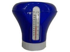 Dosificador flotante pastillas de cloro de 200 g con termómetro Dpool