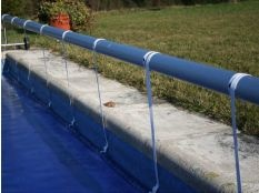Elementos para unión de manta térmica piscina a enrollador