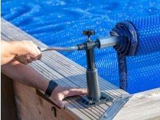 Enrollador básico Gre para manta térmica piscinas elevadas