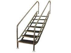 Escalera piscina de fácil acceso Land ancho 700 mm en acero inoxidable