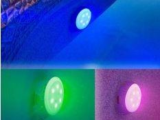 Foco proyector Led de luz RGB (colores) Gre para válvula de retorno de piscina