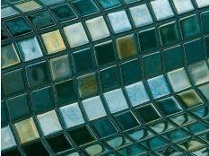 Gresite para piscina Esmeralda metálico 25 x 25 mm