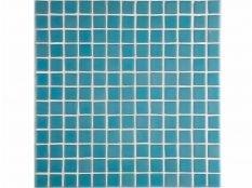 Gresite para piscinas azul liso A-44 25 x 25 mm