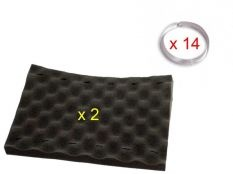 Kit Esponja espuma negra + Clip fijación para limpiafondos Zodiac Indigo, Cybernaut, Voyager y Sweepy Free