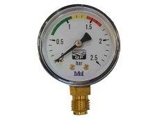 Manómetro para filtro de piscina Hayward con conexión inferior de 1/4