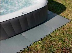 Manta protectora y tapiz de suelo piscinas desmontables gris Gre