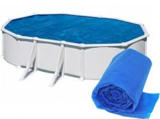 Manta térmica piscina desmontable ovalada Gre 400 micrones