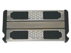 Peldaño doble de seguridad en acero inoxidable para escalera de fácil acceso