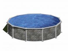 Piscina desmontable circular de acero aspecto piedra Córcega Gre