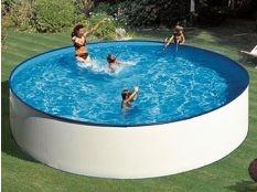 Piscina desmontable circular de acero chapa blanca Lanzarote Gre profundidad 90 cm