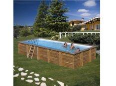 Piscina desmontable madera rectangular Braga Gre 8,15 x 4,20 x 1,46 m