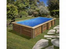 Piscina desmontable madera rectangular Lemon Gre 3,75 x 2 x 0,68 m
