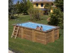 Piscina desmontable madera rectangular Marbella Gre 4,27 x 2,77 x 1,19 m
