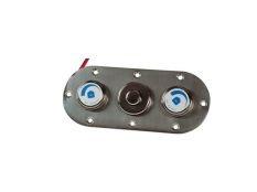 Placa de mandos en acero inoxidable para pulsador neumático con 2 reguladores de aire de piscinas Fitstar
