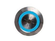 Pulsador piezoeléctrico de 22 mm con botón en acero inoxidable para luz en piscinas