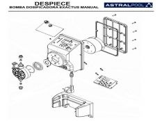 Recambio bomba dosificadora Exactus Manual Astralpool