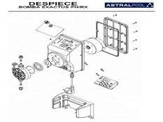 Recambio bomba dosificadora Exactus pH-Rx Astralpool