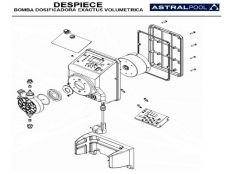 Recambio bomba dosificadora Exactus Volumétrica Astralpool