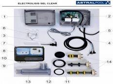 Recambios clorador salino Sel Clear Astralpool