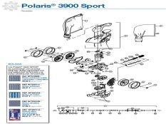 Recambios limpiafondos de presión Polaris 3900 Sport