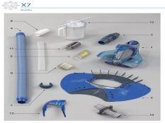 Recambios limpiafondos hidráulico X7 Zodiac