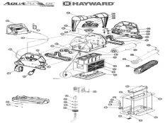 Recambios robot limpiafondos eléctrico Aquavac Hayward