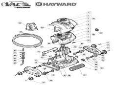 Recambios robot limpiafondos eléctrico Evac, Sharkvac y Atlantis Hayward