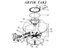 Recambios de filtro de arena laminado en poliéster Artik Ak Kripsol