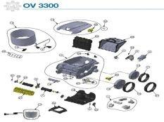 Robot limpiafondos eléctrico OV 3300 Zodiac recambios